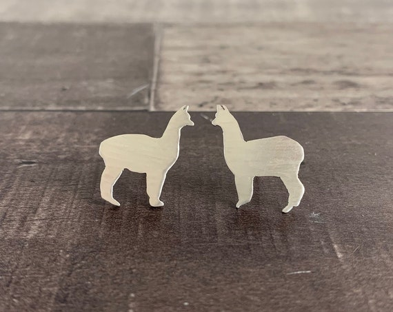 Sterling Silver Llama Stud Earrings