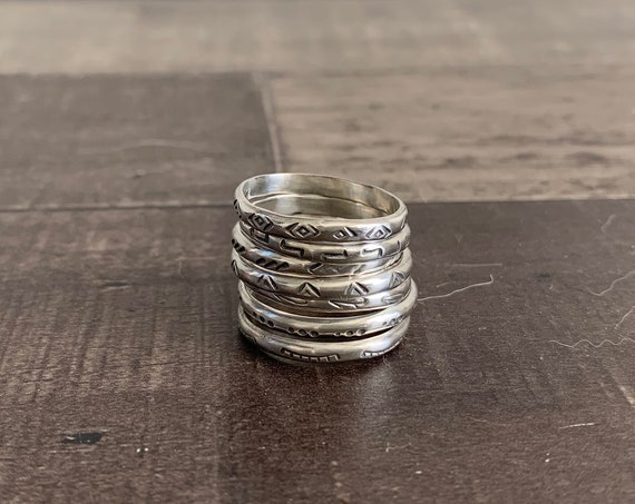 Sterling Silver Stackable Ring Set
