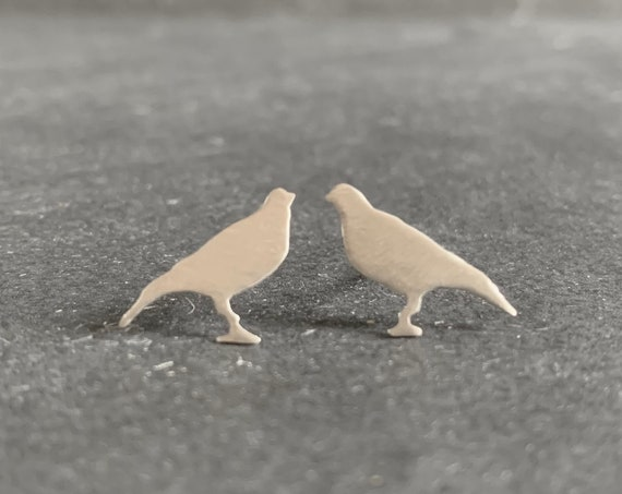 Sterling Silver Falcon Stud Earrings