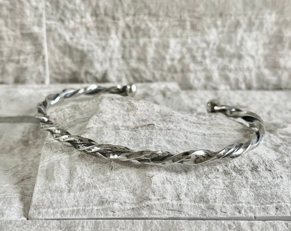 Sterling Silver Spiral Cuff Bracelet