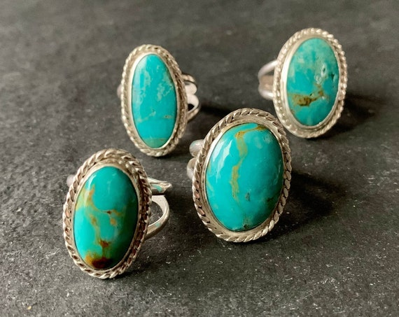 Sterling Silver and Natural Arizona Turquoise Ring