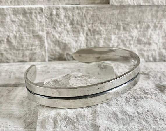 Sterling Silver Men's Cuff Bracelet