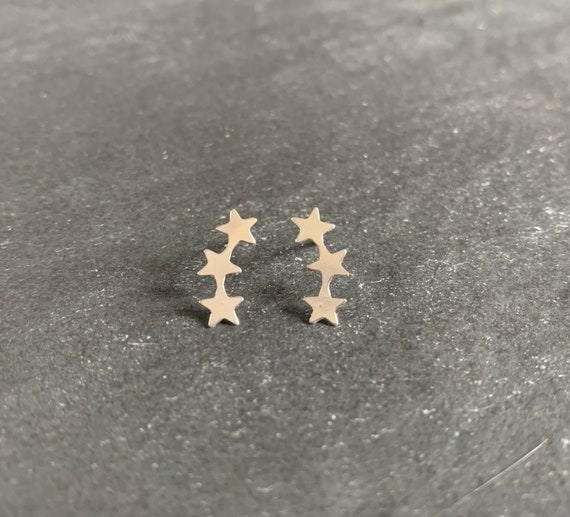 Sterling Silver Shooting Star Earrings
