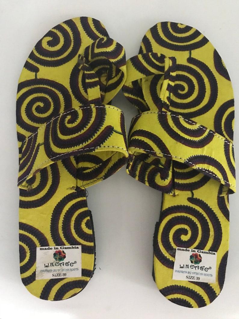 a8e88d551d860c Lineage TM Handmade African print sandals size UK 6