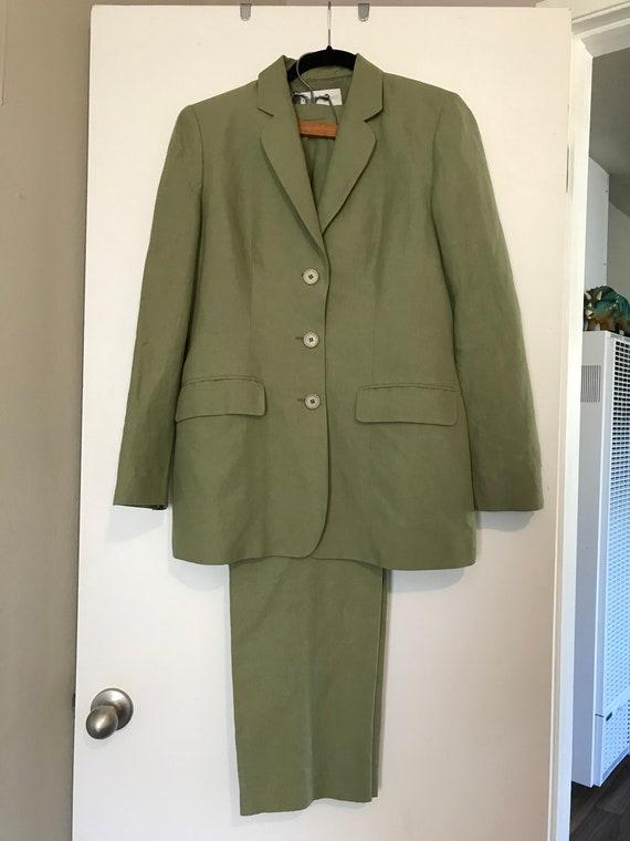 Vintage 90s Sage Green Women S Suit Etsy