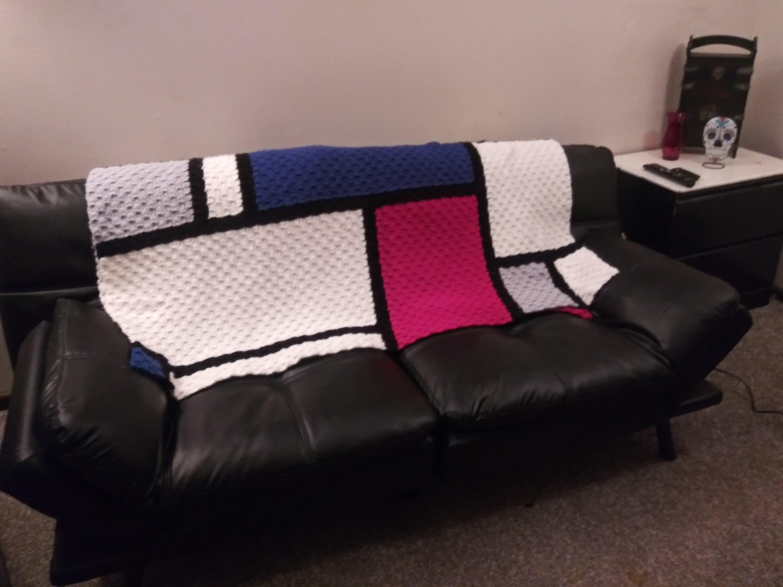 Mondrian inspiré Crochet afghan