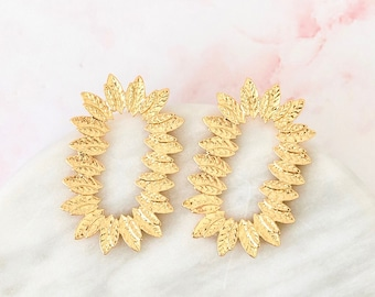 wild times   oversized gold statement earrings   luxury twisted metal style   organic earrings   bridal earrings   wedding bridesmaid #38