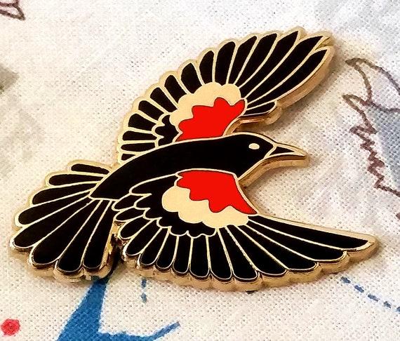 Pinback Buttons Badges Pins Fashion Art Bird Hummingbird Animal Purple Lapel Pin Brooch Clip Trendy Accessory Jacket T-Shirt Bag Hat Shoe