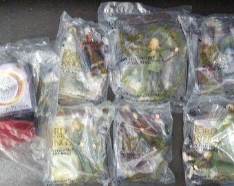 Burger King Lord of the Rings Figures (2001) Incomplete set of  7 toys