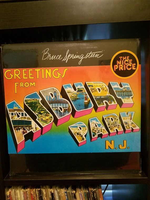 Bruce springsteen greetings from asbury park nj etsy m4hsunfo