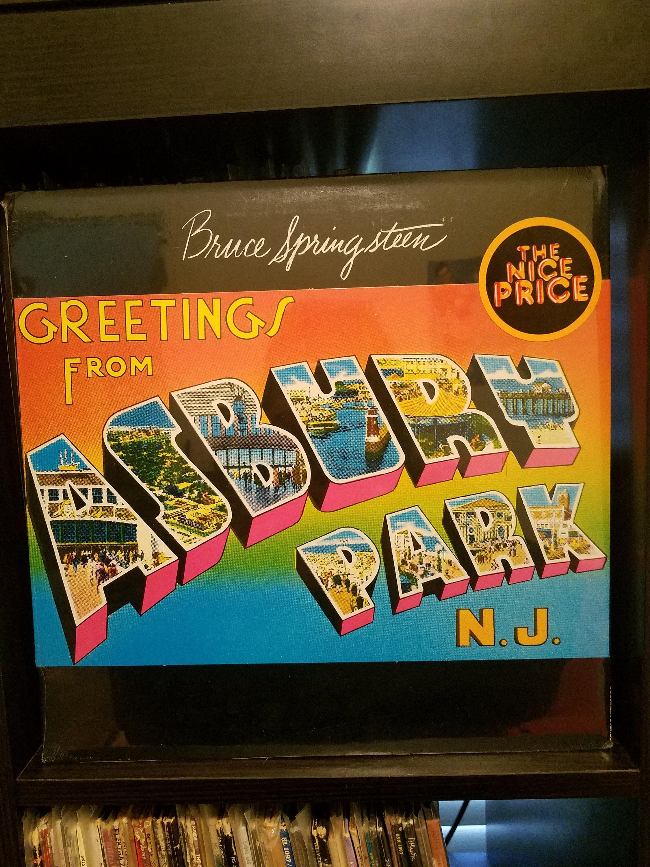 Bruce Springsteen Greetings From Asbury Park Nj Etsy
