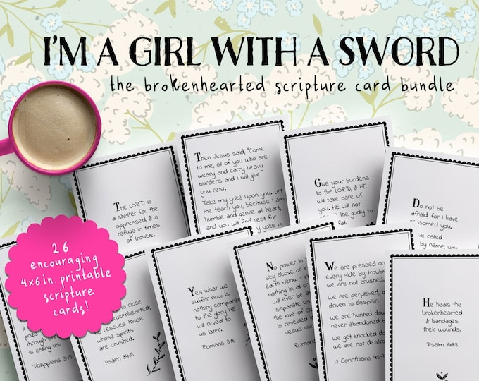 Printable Scripture Cards | Brokenhearted