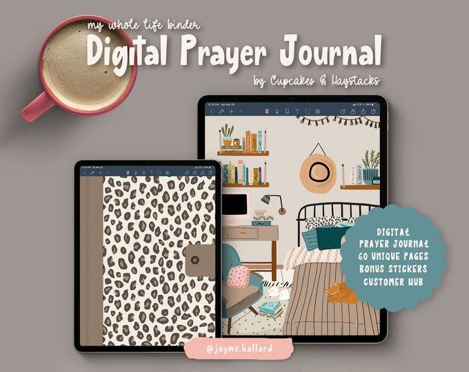 Digital Prayer Journal | Bonus Digital Stickers