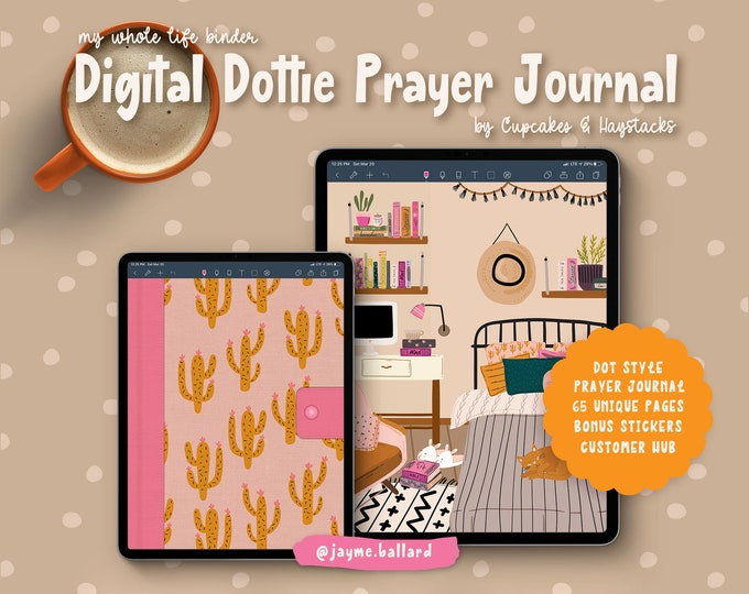Digital Dottie Prayer Journal | Bonus Digital Stickers