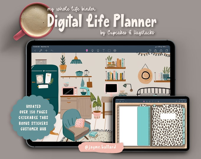 Digital Life Planner | Bonus Digital Stickers
