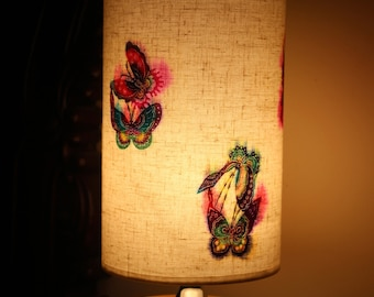 Magic Butterfly Inspired DIY Hand-made Paper-cutting Pasting Linen Lamp