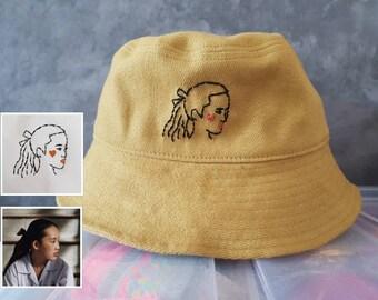 T92 Hotdog Bun Embroidered Bucket Hat