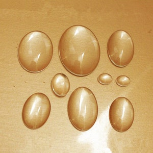 Raindrop Clear Glass Cabochons 18mmx25mm