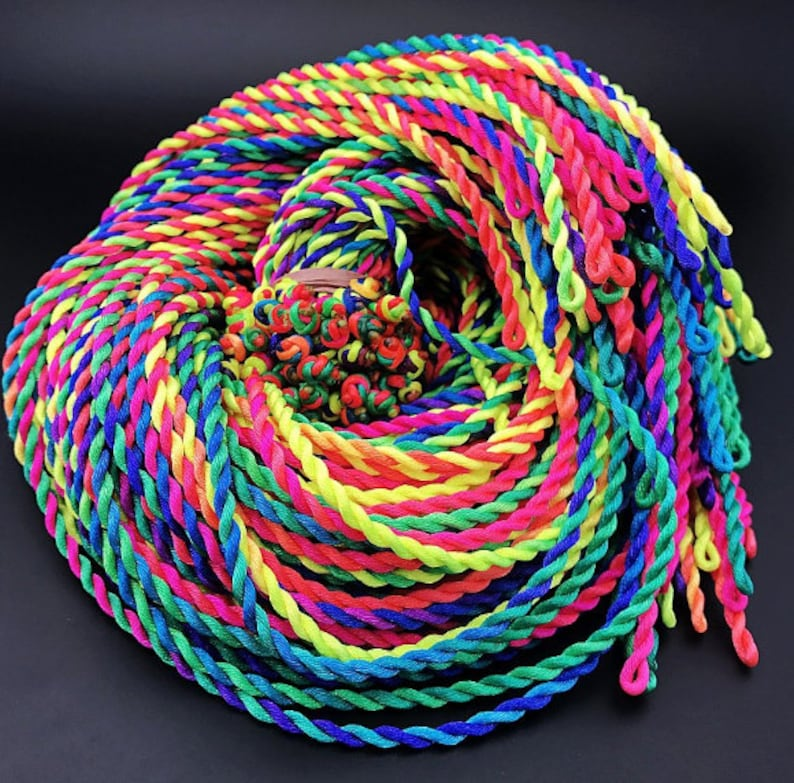 100pcs 20inches 3mm RainbowBlackRed Braided Silk Cord Necklace,For Pendant Charm,DIY Necklace