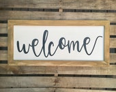 Welcome—Medium | Framed...