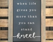 Kneel—Small | Framed Si...