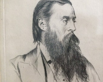 Georges Labadie PILOTELL, (1844-1918) 'Portrait of Henry Moore R.A. Etching Signed 13.5 x 18cm