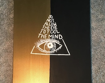 Eye Quote Original Acrylic Painting on Canvas