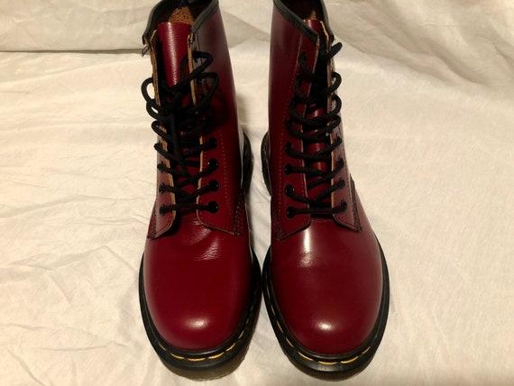 heiße neue Produkte großer Rabattverkauf das beste Dr. Martens Cherry Red 1460 Smooth Leather Boots. Made In England. Size 6  US UK size 4 EU size 37.