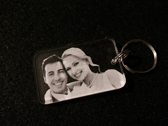 Exclusive key ring made of acrylic glass with desired name and desired colour