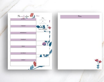 Floral Weekly and Daily Planner