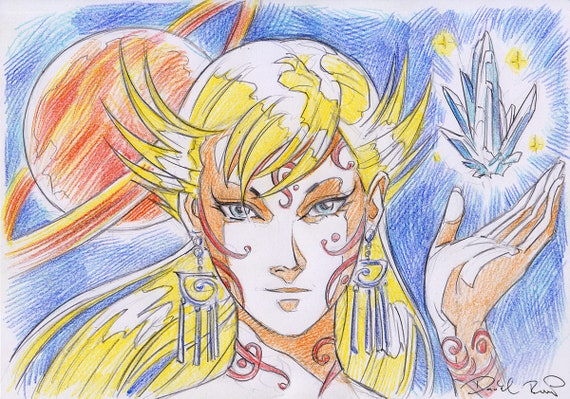 Pleiadian Blaj concept anime sketch