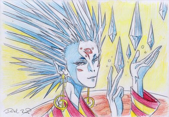 Lyran alien anime concept art