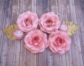 Big paper flowers etsy 4 giant flowers paper flowers giant paper flowers large paper flowers wedding flowers big flower paper flower backdrop mightylinksfo