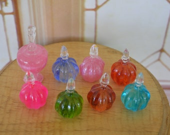 Barbie/Doll/Dollhouse Perfume/Decorative bottles.  Your choice of 7 colors in 2 sizes.   Colors shown in photos.  Barbie accessory