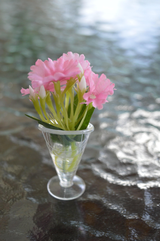 16 Floral Arrangement Barbie Doll Has Her Pink Silk Flowers Etsy
