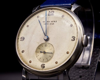 Vintage 1930s Rolex Marconi Men's Watch, Stainless Steel, Own A Piece of Rolex History!