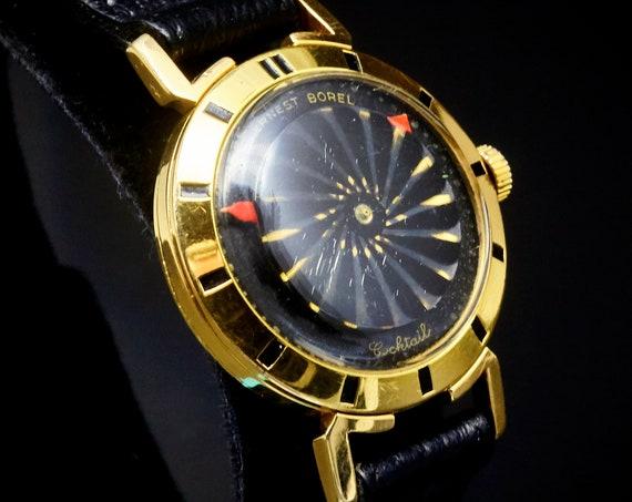 "Vintage 50s Space Age | Mid Century kaleidoscope watch | Borel ""Cocktail"" model | Switzerland | MECHANICAL RESTORATION"