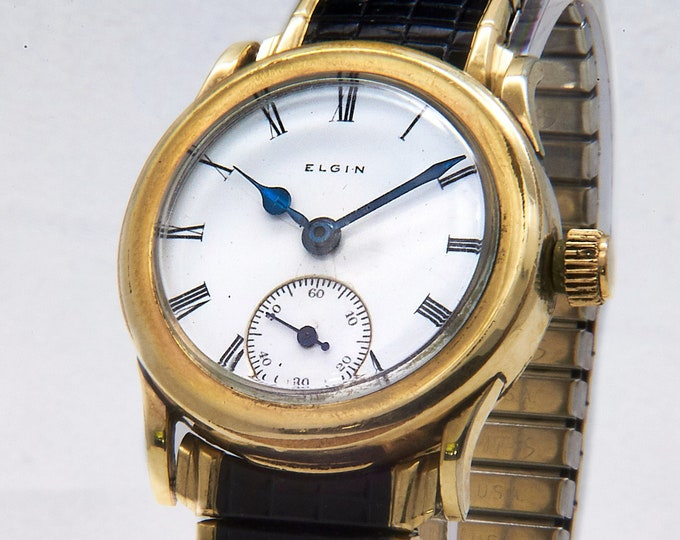 Antique 1912 Victorian Men's 10k Gold Filled Limited Edition Elgin Watch • Art Deco • Collector's DREAM • Heirloom Estate Jewelry