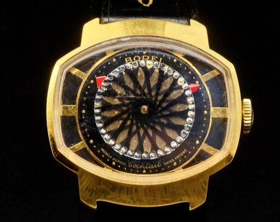 Quirky Kaleidoscope Cocktail Watch | Wearable Pop Art | 1960s Ernest Borel Ladies Kaleidoscope Watch | Glittery Gold + Sparkling Jewels