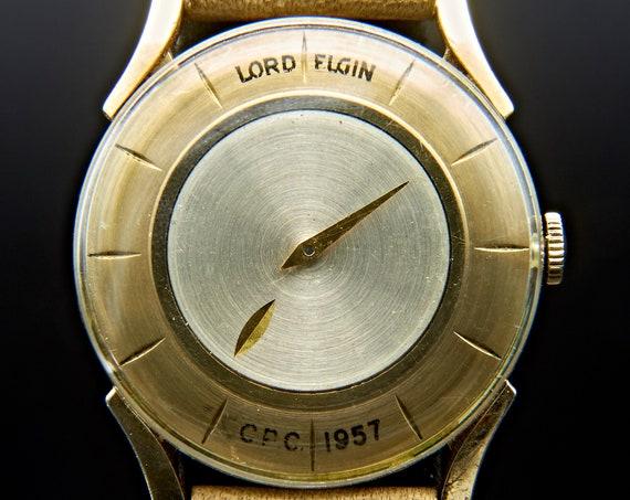 1950s Mid Century Elgin Mens Vintage Watch   Limited Edition Antique Watch   Antique Unisex Watch   Mid Century Modern Space Age Watch