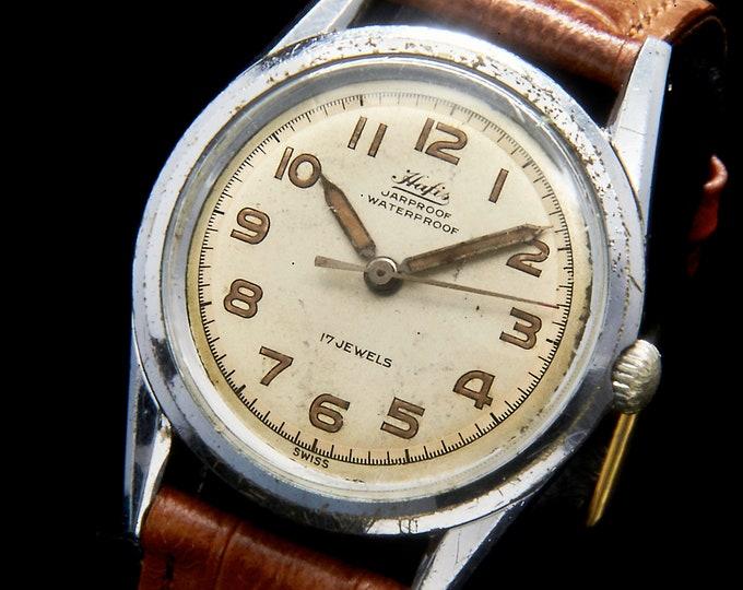 1960s French Diver Watch • Ezor (France) Plongée Mechanical Timepiece • GMT Style Rotating Dive Timer Bezel • Luminous Hands • Man/Unisex