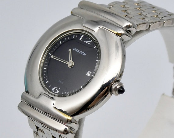 Vintage Skagen of Denmark Watch   90s designer watch for women   FULLY RESTORED