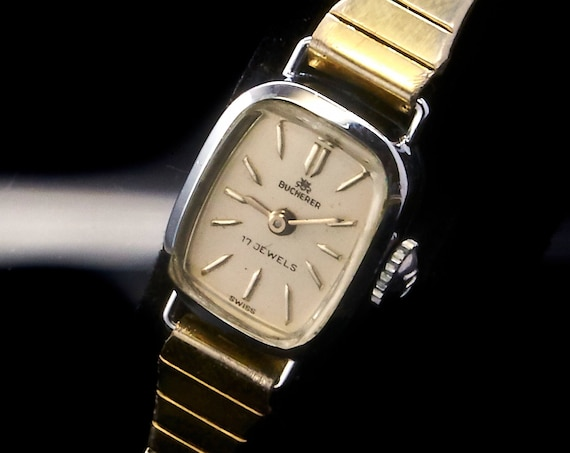 TINY! DAINTY! Vintage Luxury Designer Lady's Art Deco Watch • 1940s Prestigious Bucherer Wristwatch for Women • Mid Century Estate Jewelry