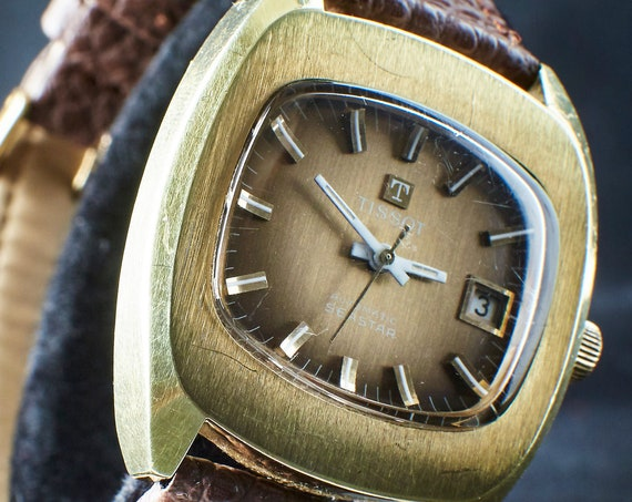 """CLASSY & SPORTY - Men's vintage 1970s nautical watch - Tissot """"Seastar"""" - Switzerland - automatic winding with date"""