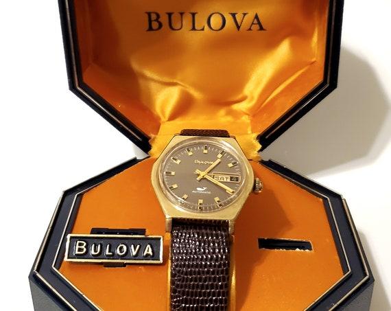 "Bulova Sea King ""Golden Clipper"" - mens automatic watch - original packaging - serviced + warranty - free shipping"