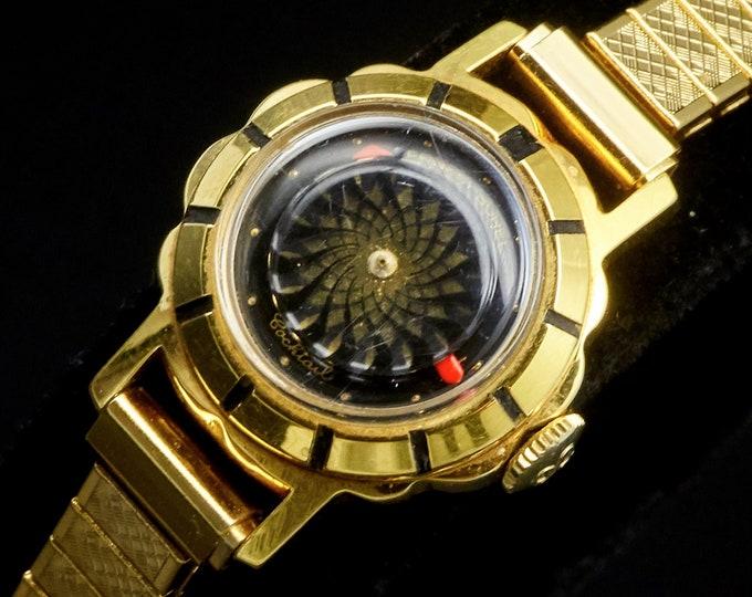Kaleidoscope Wristwatch • Vintage 1950s Lady Borel Gold Cocktail Watch • Mid Century Women's Heirloom Estate Jewelry • Kaleidoscope Lovers!