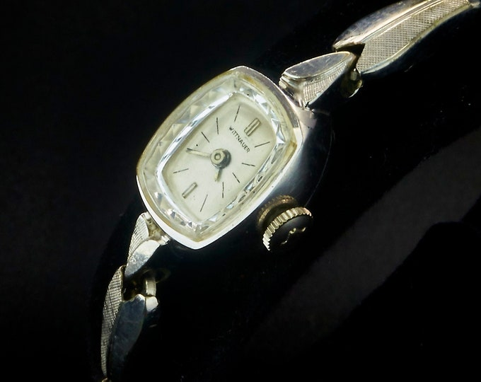 Vintage 60s Wittnauer 2726-4D White Gold Fill Tiny Marquise Cocktail Watch • Gold Filled Kesten Expansion Bracelet • Luxury Heirloom Jewelry