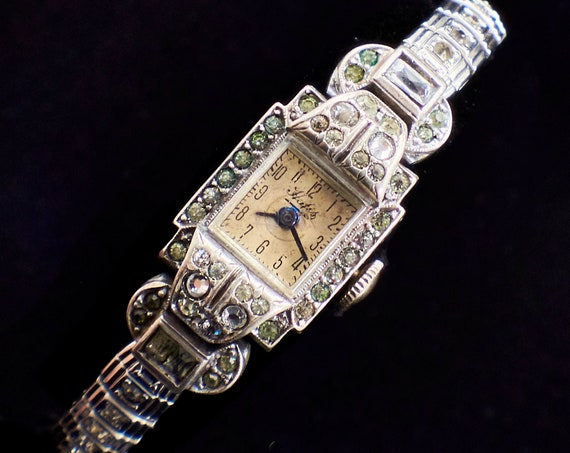 1910s Antique Great Gatsby Cocktail Watch | FLASHY Estate Jewelry | Read description!
