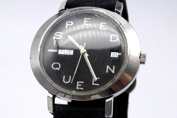 SPEED QUEEN | Badass 1970s Custom Men's or Women's Bulova Watch | Roller Derby Style Gift | UNISEX | Gift for Stoners | Humorous Gift Idea