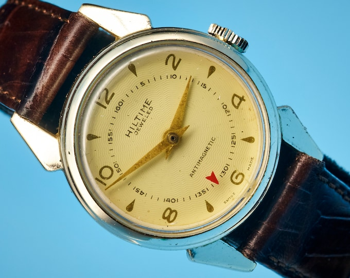 1950s Unisex Military Style watch + Mystery Dial | Own a piece of 1950s American robot & toy history - SEE DESCRIPTION!